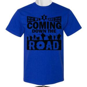 Coming-Down-Road-Blue T-shirt