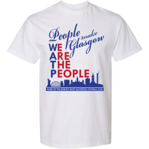People-Make-Glasgow-White T-shirt