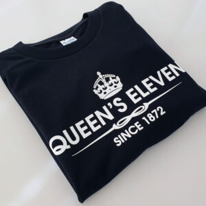 Queens-Eleven-Black-T-shirt-folded