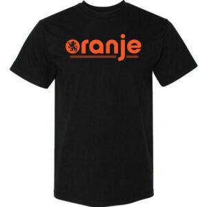 Oranje-T-shirt-Black