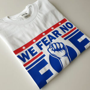 Fear-no-Foe-White-T-shirt-folded